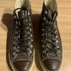 Leather Converse All Star - Rare boot grommets